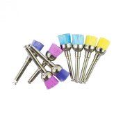 100 Pcs Dental New Colour Nylon Bowl Polishing Polisher Prophy Brushes by Superdental