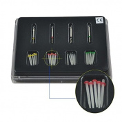 . Dental High-intensity Quartz Straight Pile Fibre Resin Post 4 Drills by Superdental