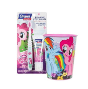 My Little Pony Inspired 3pc Toddler Training Bright Smile Oral Hygiene Set! (1) My Little Pony Soft Manual Toothbrush (1) Pinkie Fruity Training Toothpaste Plus Bonus Matching Mouth Wash Rinse Cup!