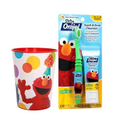 Seasame Street's Elmo Inspired 3pc. Bright Smile Oral Hygiene Set! (1) Soft Manual Toothbrush (1) Toddler Training Tooth & Gum Cleanser Plus Bonus Elmo Mouth Wash Rinse Cup!