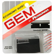 Personna Gem Stainless Steel Single Edge Razor Blades 10 ea