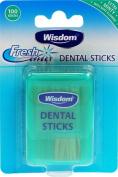 Wisdom Fresh Effect Dental Sticks Extra Minty 100 Sticks x 6 Packs