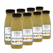 Nosh Detox 'The Raw Veggie' - 8 x 250ml Kale, Celery, Banana & Mandarin Green Smoothie Detox Drink - Digest, Destress & Restore