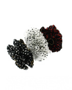 Zac's Alter Ego® Set of 3 Double-Sided Pola Dot & Plain Frilly Ruffle Scrunchies/ Garters