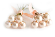 10 x Light Peach Pearl Wedding Bridal Hair Pins Made With. ELEMENTS