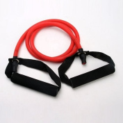 Cozyswan® Unisex Exercise Training Red Resistance Stretch Band Tube Yoga Pilates ABS Fitness Muscle Workout
