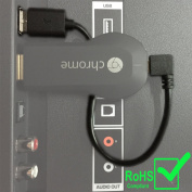 Chromecast USB Cable. Designed to Power Your Google Chromecast HDMI Streaming Media Player from Your TV USB Port