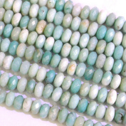 Faceted Natural Amazonite Rondelle 4*8mm Gemstone Jewellery Making Loose Beads