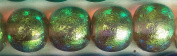 Paula Radke Green Clear Dichroic 13mm Round Bead