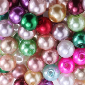 Charisma 4mm Tiny Satin Lustre Mix Colour Faux Pearl Round Craft Loose Beads for Jewellery Making Table Scatter Weddings Embellishing 500pcs