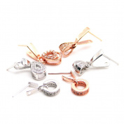 Beautiful Bead 3 Pairs of Women's 925 Silver Earrings Ear Cuffs Pendants Silver and Gold Colour