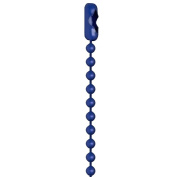 80cm Blue Coated #3 Ball Chain Necklaces 25 Count