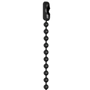 80cm Black Coated #3 Ball Chain Necklaces 25 Count