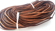 3m Brown Genuine Cowhide Leather Lace Flat Cord- Bulk leathercraft,Jewellery Making,Bracelet,Necklace 3.5mm