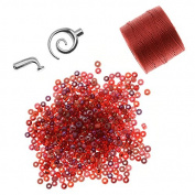 Refill - Beaded Kumihimo Bracelet (Red Tones) - Exclusive Beadaholique Jewellery Kit