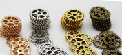 Gears Cogs 15mm Copper, Brass, Silver and Gold for Crafting Steampunk Jewellery & Altered Art Set of 40 Pieces