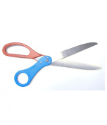 Big Ribbon Cutting Scissors Two Tone Red and Blue Handle 70cm