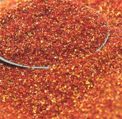 Fire Orange German Glass Glitter - 30ml Jar