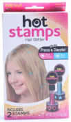 NEW Hot Stamps Hearts & Stars Hair Glitter - As Seen on TV - Just Press & Dazzle