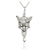 Bele Fashion Women Girl Silver Plated Lord of the Rings Arwen's Evenstar Drop Pendant Necklace Charm Chain Fashion Jewellery