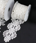 Floral Natural White Lace Ribbon, 7.6cm X 5y