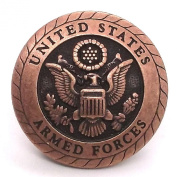 Armed Forces Copper Plated Screwback Concho 2.5cm - 0.6cm 2659C by Stecksstore