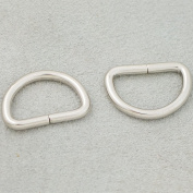 "Bluemoona 100 Pcs - Non Welded Dee Rings Metal 3/4"" 19mm 4 Webbing D Buckle Bag"