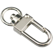 """Bluemoona 50 Pcs - 5/16"""" 7mm Swivel Lobster Metal Clasps Clips Curved Snap Auto Close Buckle"""
