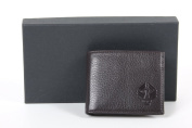 GENUINE CALF'S LEATHER MEN WALLET black 1041