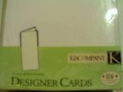 24 White Value Pack Designer Cards & Envelopes