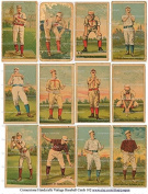 Vintage Baseball Card Print Images Collage Sheet 103