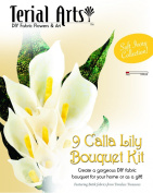 Terial Arts Calla Lily Fabric Flower Bouquet Kit - Ivory