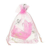 50pcs 9x12cm Pink Butterfly Organza Gift Bags Pouches Bags & pouches Wedding X-mas Favour