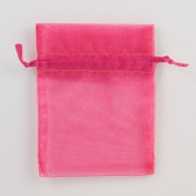 20 Organza Pouch Bag Jewellery Wedding Reception Party Sweet 16 Favours Xmas Gifts Fuchsia