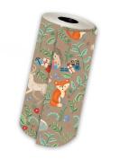 Jillson Roberts 1/4 Ream Gift Wrap, Krafty Fox, 60m x 80cm