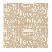 The Gift Wrap Company Recycled Wrapping Paper Rolls, Baby Wishes