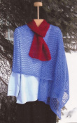 Skydive Scarf or Stole - Cabin Fever Knitting Pattern #080