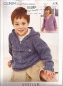 Sirdar Denim Tweed DK Knitting Pattern 4242 Hoodies - Children 1-12yr