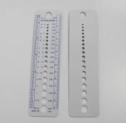 CHENGYIDA 5-PACK Knitting Needle & Crochet Hook Sizer With Stitch Gauge Ruler ,Knitting Gauge