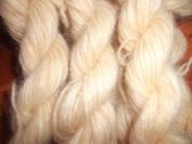 Pale Yellow 70% Angora 30% Merino Wool Fingering Weight Yarn