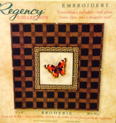 Butterfly Embroidery Kit with Designer Mat & Backing Board