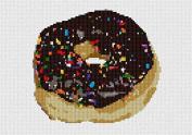 Chocolate Donut Needlepoint Canvas
