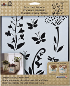 FOLKART Plaid 30730 22cm by 24cm Painting Stencil, Large, Wildflowers and Butterflies