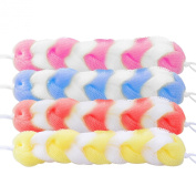 Odear Braided Nylon Stretchy Mesh Bath Strap with String(pack of 3) Assorted Colours