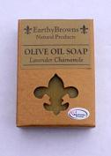 EarthyBrowns 100% Natural Lavender Chamomile Olive Oil Soap - 180ml Bar