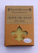 EarthyBrowns 100% Natural Mint Julep Olive Oil Soap - 180ml Bar