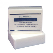 PREMIUM ULTRAWHITE GLUTATHIONE WHITENING LIGHTENING SOAP FOR SENSITIVE SKIN, W/ GLUTATHIONE, GRAPESEED OIL, COLLAGEN, VITAMIN C Whitens, Nourishes & Tightens Skin, Erase Fine Lines & Wrinkles-Safe for Sensitive Skin