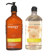 Bath & Body Works LEMON ZEST SHOWER GEL & BODY LOTION AROMATHERAPY ENERGY SET! YOU GET BOTH!