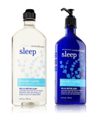 Bath & Body Works Body Lotion & Body Wash Set, Lavender Vanilla Aromatherapy