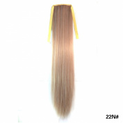 Simpleyourstyle 1pc 29colors Straight Long 55cm 21.6inch Wrap Ponytail Wig Clip in Hair Extensions Black Blue Red Light Brown Blonde U Pick